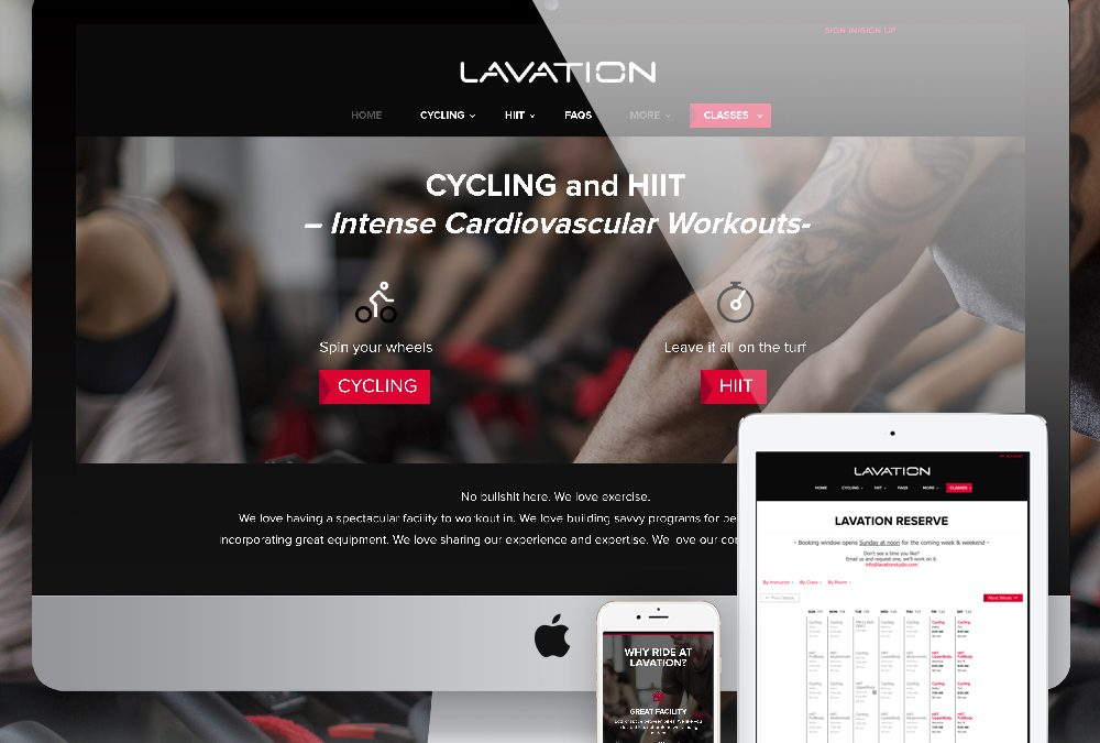 Lavation Studio Fitness Website Design