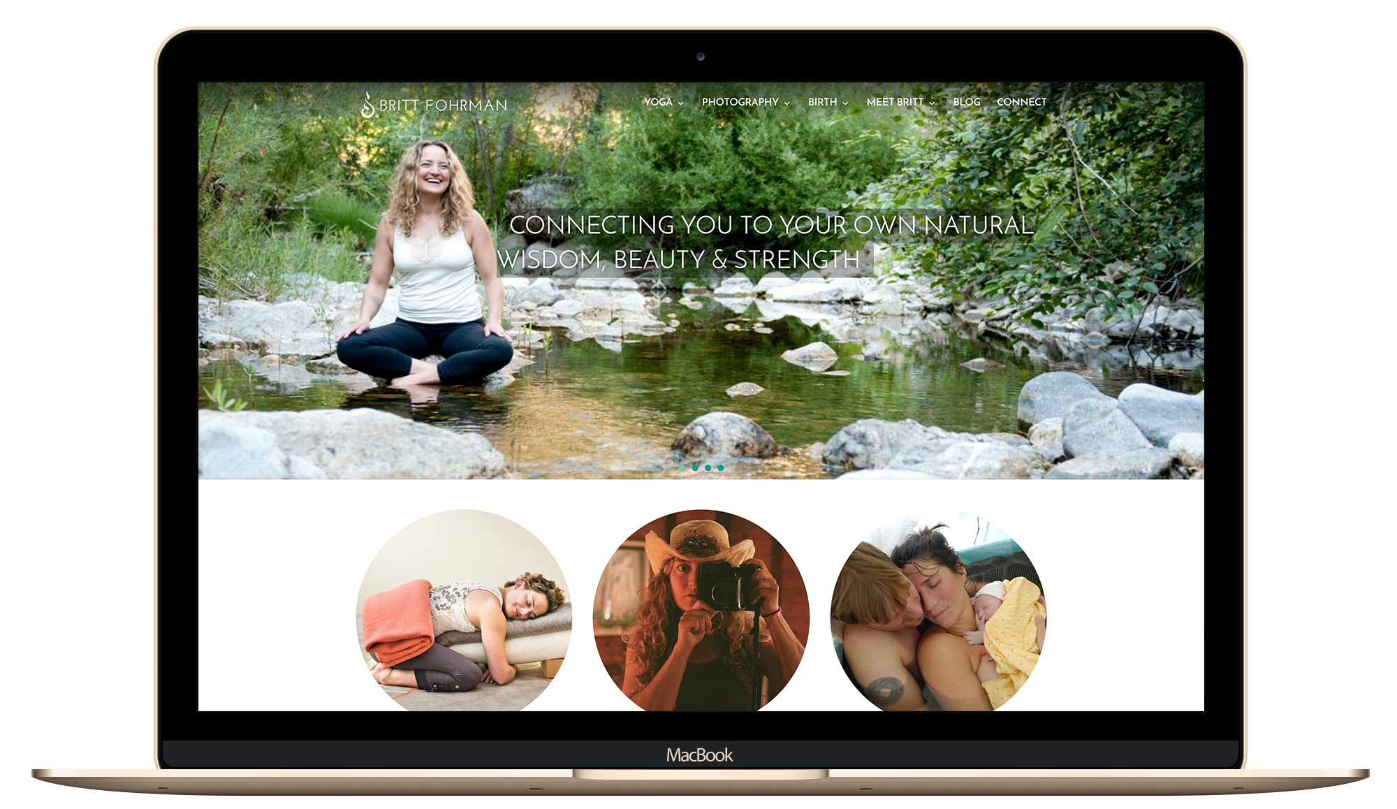 heatlh and wellness, lady boss Yoga instructor website design
