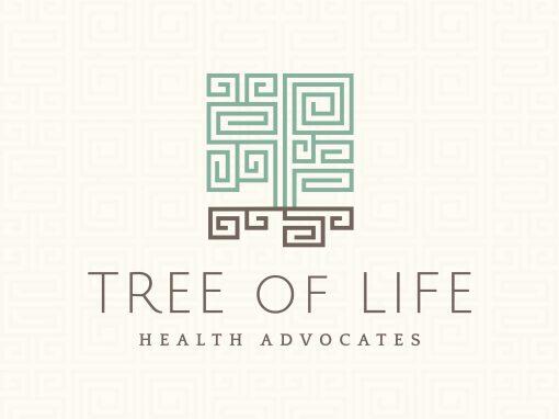 Tree of Life Health Advocates Geometric Logo Design