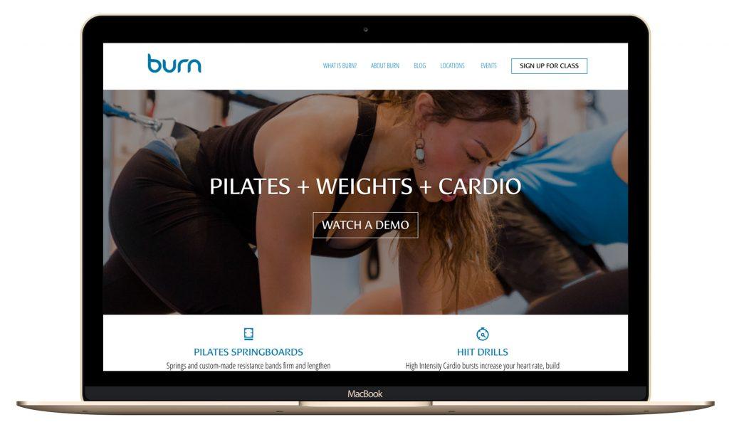 Pilates studio website design