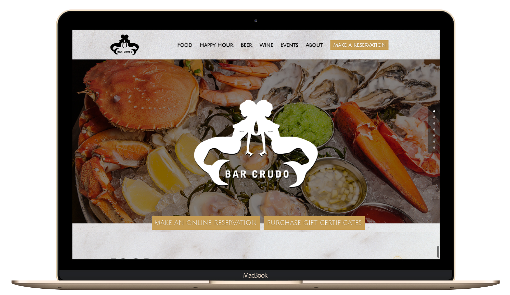 restaurant web design, brick and mortar