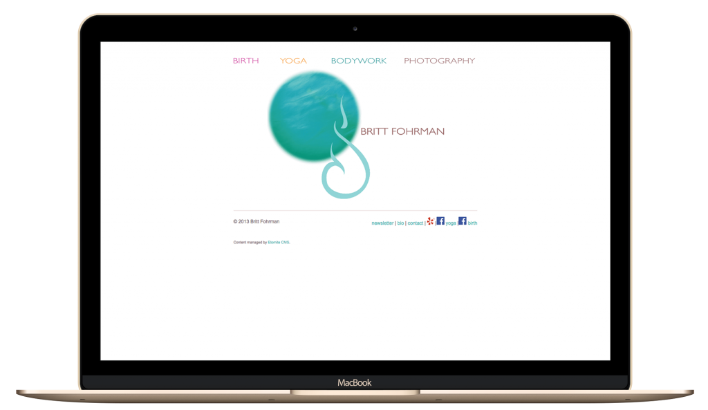 heatlh and wellness, lady boss Yoga instructor website design