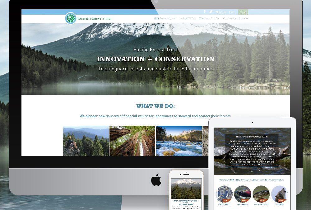 Nonprofit Website Design Pacific Forest Trust