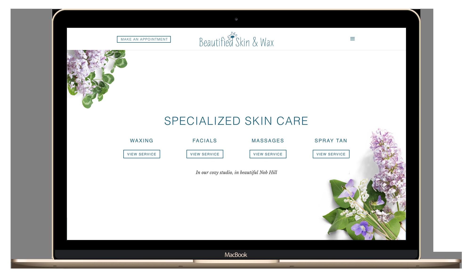 lady boss, website design, health and beauty, logo refresh