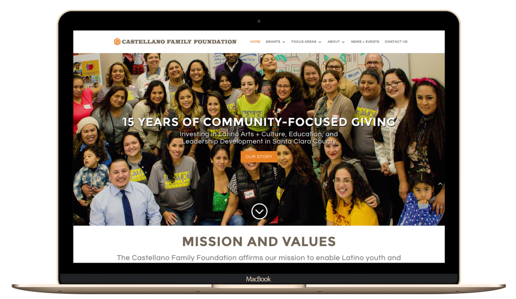 nonprofit, foundation, website refresh