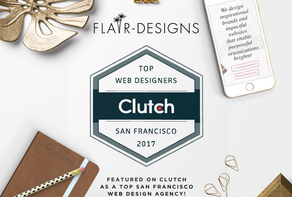Flair designs is featured on clutch as a top san francisco for Design agency san francisco