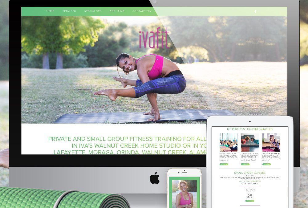 Fitness Website Design IvaFit