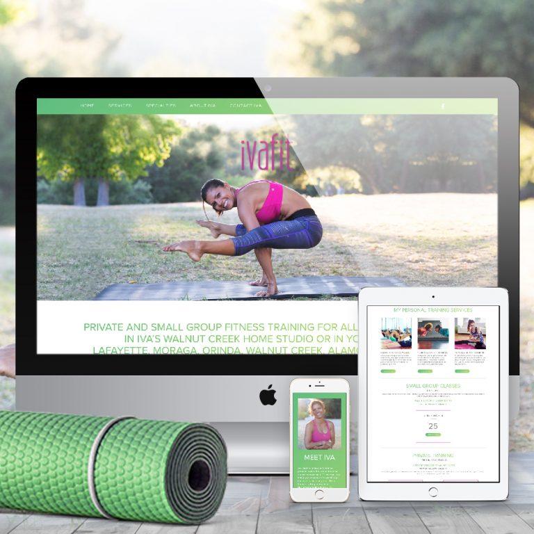 Fitness Website Design IvaFit