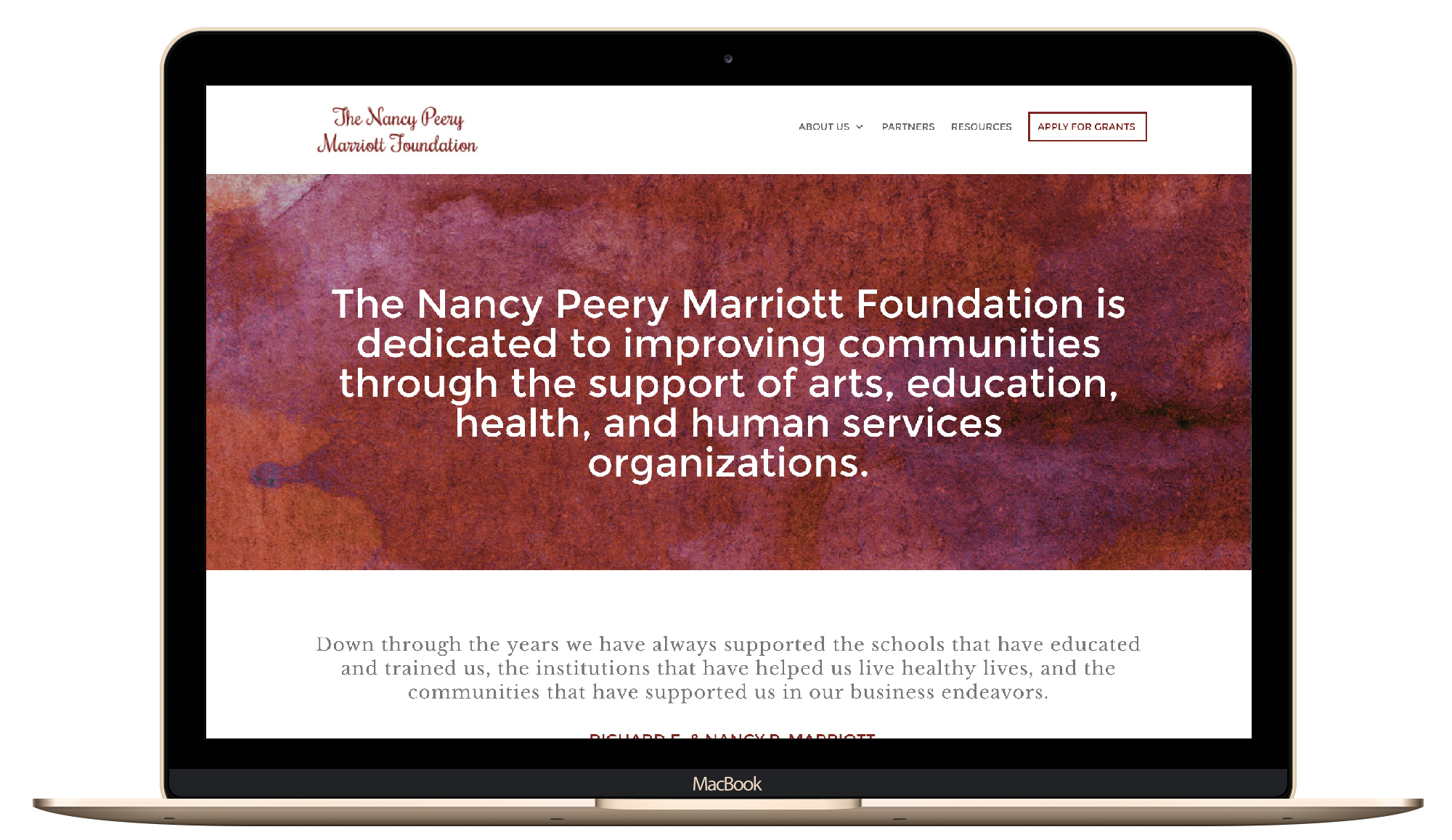 nonprofit, foundation, web design
